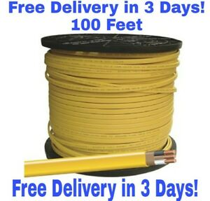 12 2 W ground Romex Indoor Electrical Wire 100 Feet Yellow Or Pink