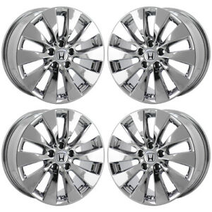 17 Honda Accord Pvd Chrome Wheels Rims Factory Oem 2015 Set 4 64047 Exchange