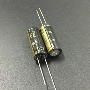 200pcs 50v 330uf 50v Panasonic Fm 10x25mm Low Esr Audio Grade Capacitor