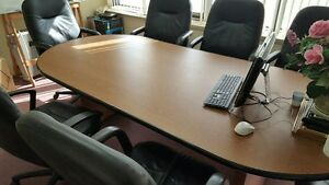 65 Off large Office Conference Table Warm Cherry W Black Edge Strip