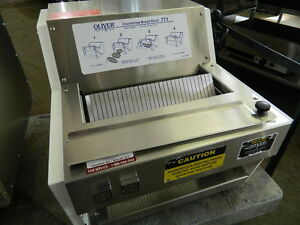 Oliver Bread Slicer Model 711 Countertop Bread Slicer 1 2 Hp 115v