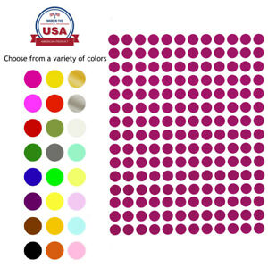 Round Stickers 1 4 Inch 8mm Small Colored Dots Round Circular Labels 840 Pack