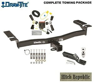 Class 3 Trailer Hitch Package W 2 Ball For 2011 2014 Ford Edge Exc Sport 75992