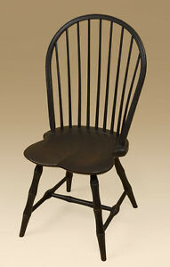 Bow Back Windsor Chair Bamboo Turnings Wood Dining Room Chair Colonial