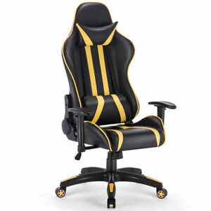 Gaming Chair Racing High Back Reclining Chair Office Desk Task Computer Swivel