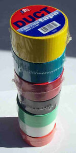 Colored Duct Tape Assortment 16 Rolls Made In Usa Free Shipping