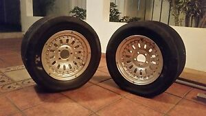Centerline 15 X9 Wheelset Mikeythompson 26 X10 Slicks 240sx S13 300zx Z31 Z32