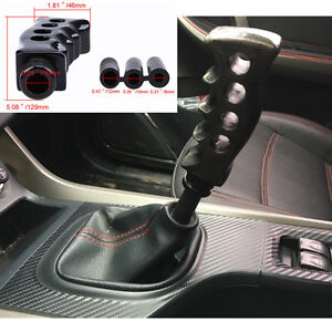 Cool Gun Grip Shifter Lever Car Shift Knob Manual Gear Stick Shift Handle Black