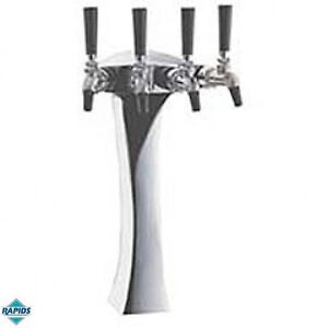 Panther Man Cave Euro Chrome 4 Faucet Beer Tower Perlick Glycol Cooled