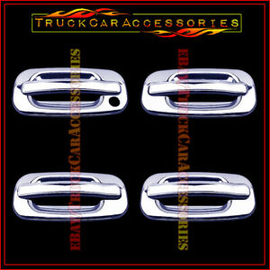 For Chevy Tahoe 2000 2002 2003 2004 2005 2006 Chrome 4 Door Handle Covers W Out