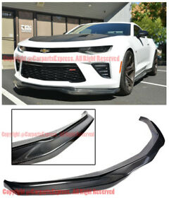 R Style Front Bumper Carbon Fiber Spoiler Lip For 16 Up Chevrolet Camaro Ss V8