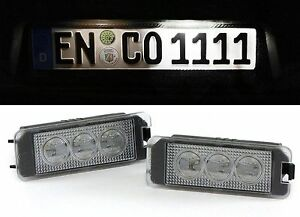 Led High Power White 6000k License Plate Lights For Vw Scirocco From Year 2009