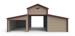 32x21 All steel Horse Barn Garage Installed Free Delivery prices Vary