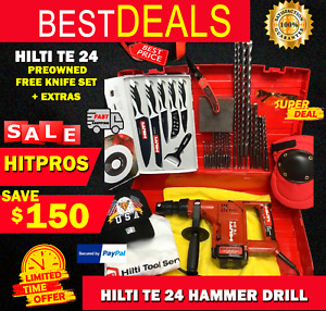 Hilti Te 24 Hammer Drill Preowned Free Knife Set Extras Fast Shipping