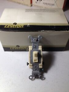 10 Leviton 54504 2i 15a 4 Way Commercial Grade Ivory Toggle Light Switch new