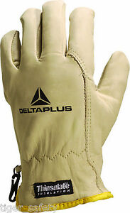 Delta Plus Venitex Fbf50 3m Thinsulate Leather Winter Thermal Cold Work Gloves