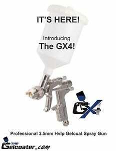 The Gelcoater Gx4 Hvlp Gelcoat And Resin Spray Gun With 3 5mm Nozzle Esg660