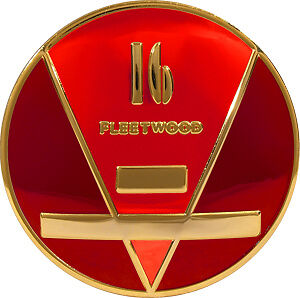 Cadillac V 16 Fleetwood Horn Button Stamped Brass Gold Platted Custom Colors
