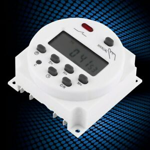 Lcd Digital Weekly Programmable Microcomputer Time Switch 17on 17off Relay Timer