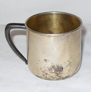 Vintage Wm Rogers Son Is 1342 Silver Plate Baby Cup Mug