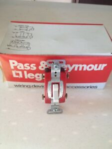 X7 Pass Seymour White Commercial 4 way Toggle Wall Light Switch 20a Cs420 w