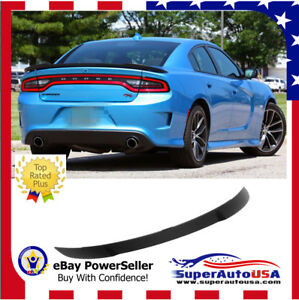 2011 2018 Dodge Charger Hellcat Style Srt Rear Wing Spoiler Painted Gloss Black