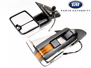 2015 2018 Silverado Sierra Chrome Power Fold Camper Trailer Tow Mirrors Oem Gm