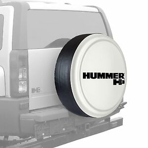 33 Hummer H3 Logo Rigid Tire Cover Painted White