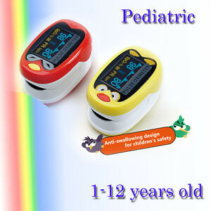 Pediatric Pulse Oximeter For Child Kids 1 12 Years Old Spo2 Blood Oxygen Monitor