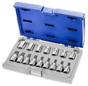 Expert By Facom E032907 16pce 1 2 Dr Torx Star Socket Set