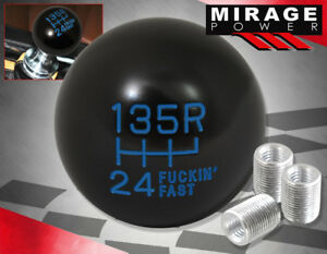 Universal 6 Speed F Ing Fast Spherical Round Ball Gear Shifter Shift Knob Blue