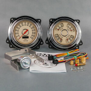 New Vintage Usa 1947 1953 Chevrolet Truck Direct Fit Woodward Gauge Package gmc