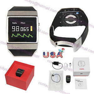 Contec Cms50k Wearable Spo2 ecg Wireless Bluetooth Smart Watch Color Oled Fda