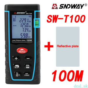 Sndway Sw t100 Hand held Laser Distance Meter Measuring Range 100m 328ft Top Re5