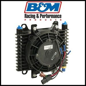 B m Oil Cooler 10 x7 5 x4 Cooler 7 Fan 175 Deg Thermostat 1 2 Npt Female Kit