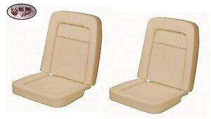 Front Low Back Bucket Seat Foam For 1967 Mustang All Models Pair No Wires
