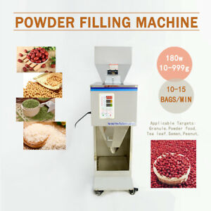 10 999g Automatic Powder Racking filling Machine Weigh Filler For Grain tea seed