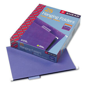 10 pack Smead Hanging File Folder 1 5 cut Adjustable Tab Letter Purple 25 pk