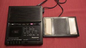 Panasonic Microcassette Transcriber Rr 930 With Panasonic Rp 2692 Foot Pedal