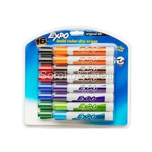 Chisel Tip Expo Original Dry Erase Markers Assorted Colors 16 count