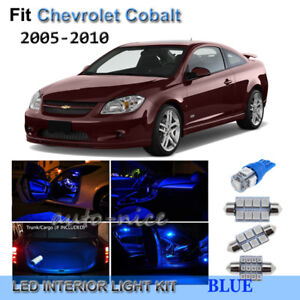 For 2005 2010 Chevrolet Cobalt Premium Blue Led Interior Lights Kit 7 Pieces