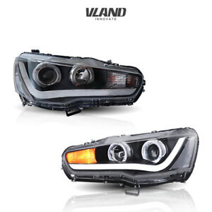 Led Headlights 2008 2017 For Mitsubshi Lancer Angel Eyes Led Headlight Assembly
