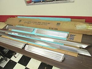 1957 1958 Ford Fairlane 500 4 Door Stainless Steel Rocker Panel Repair Kit Nos