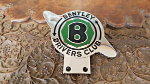 Bentley Drivers Club License Plate Topper Heavy Stamped Emblem Medallion