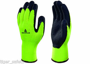 12 Pairs Delta Plus Venitex Vv735ja Apollon Winter High Visibility Coated Gloves