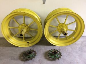 Antique John Deere 15 Wheels Spoke Rims Jd 2637 Jd450 Spindles Corn Planter
