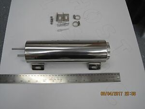 3 X 10 Polished Stainless Steel Radiator Overflow Tank Catch Can 32 Oz Capacit