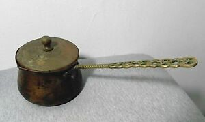 Antique Turkish Islamic Hand Hammered Copper Coffee Tea Large Pot Kettle Wh Lid