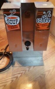 Vintage Elec Soup And Coffee Insulated Dispenser Stainless Steel One Gallon Nsf