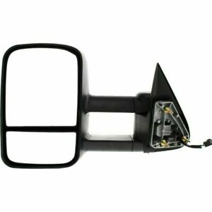 New Left Side Dual Glass Black Towing Mirror For Chevy Cadillac Gmc 99 02